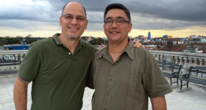 John with Pastor Tan in Sancti Spiritus, Cuba