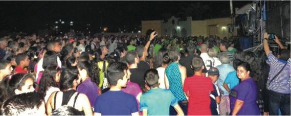 The worship concert on April 5, 2015 Sancti Spiritus, Cuba